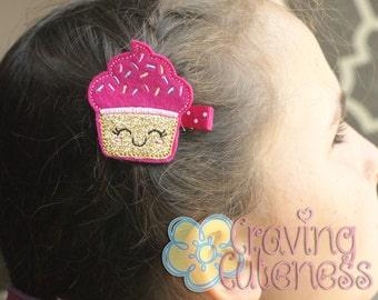 Boutique Cupcake Hair Clip - Meet Miss Cass - Badge Reel or Planner Accessory