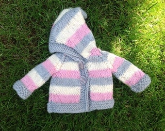 "Gorgeous cardigan with hооd for Waldorf doll 18"" - 20"""