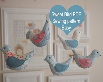Sweet bird: easy PDF sewing pattern