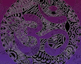 Colourful Aum Symbol Print