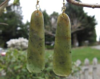 Wyoming Jade (Kiwi Jade) Earrings