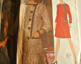 Vogue Sewing Pattern 2183 Designer  Sybil Connolly of Dublin  1960's Vogue Couturier Pattern