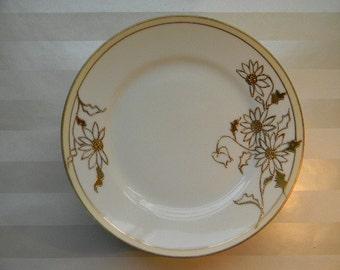 6 PLATES,  Hand Painted, Raised Gold, Nippon, Daisy Dessert Plates