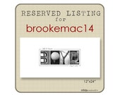 12x24 Guest Book Print  RESERVED for brookemac14