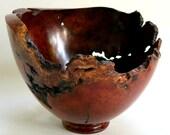 Manzanita Burl Lathed Turn Sculptural Bowl,  #937