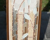 Mosaic Stone, Glass, and Copper Wall Art