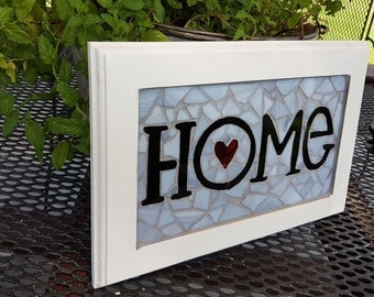 Heart Home Mosaic Sign