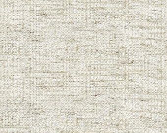 Streamlined Solid Two Tone Weave Upholstery Fabric - Hand-woven Appearance - Light and Airy - Color: Lido Flax - per yard