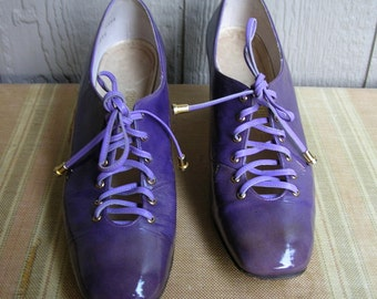Vintage 60s PURPLE HAZE Laceup Purple Heels