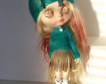 Blythe OOAK Hat, Jumper & Skirt (BD101415)