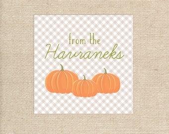 Digital Personalized Pumpkin Tags