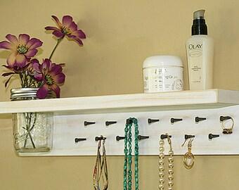 Jewelry Organizer Wall Sale/Jewelry Rack/ Jewelry Holder Wall/ Jewelry Shelf/ Necklace Holder