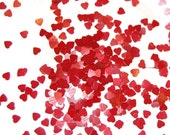 VALENTINE HEARTS Solvent Resistant Glitter  - Red Hearts, Red Glitter, Nail Art, Glitter Nail Polish and Glitter Crafts