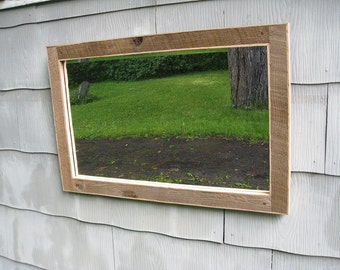 SOLD Large Rustic Barn Wood Mirror no.1611