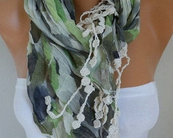 Camouflage Shawl Christmas Gift Cowl Scarf Cotton Gift Ideas For Her Women's Fashion Accessories