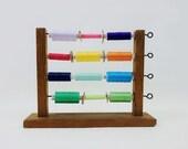 Vintage Thread Spool Rack Holder
