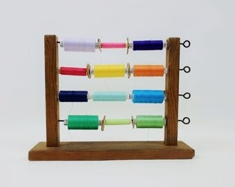 Vintage Thread Spool Rack Holder
