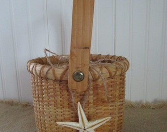 Nantucket Style Basket  Lightship Basket  Cape Cod