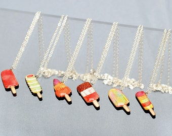 Ice lolly charm necklace