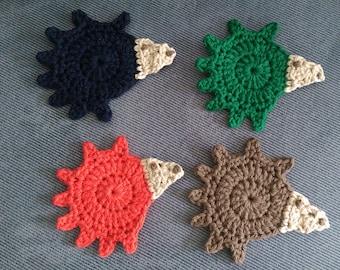 Hedgehog Coaster Set-Dark Colors