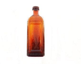 Antique McKesson Robbins Cod Liver Oil Bottle, Medicine Bottle, Medical Memorabilia, Pharmacy Decor, Pharmacist Collectible, Medical Decor,