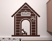 HUGE SALE - Personalized Indoor Dog House  Wall Decal - Custom Doggie Decor - FREE Shipping!