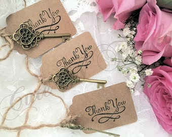 Thank you key tags set of 50