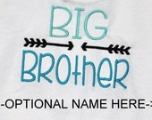 Big Brother Shirt/Custom Embroidered T shirt/Sibling Shirt/Personalized T shirt/Made to Order