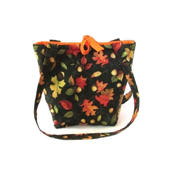 Purse, Thanksgiving, Fall Leaves Purse, Small Tote Bag, Autumn, Fabric Bag, Handmade Handbag, Fall Purse,  Shoulder Bag