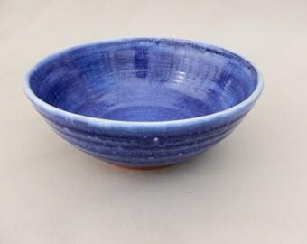 Cobalt Pottery Bowl - Serving - Salad - Fruit Bowl