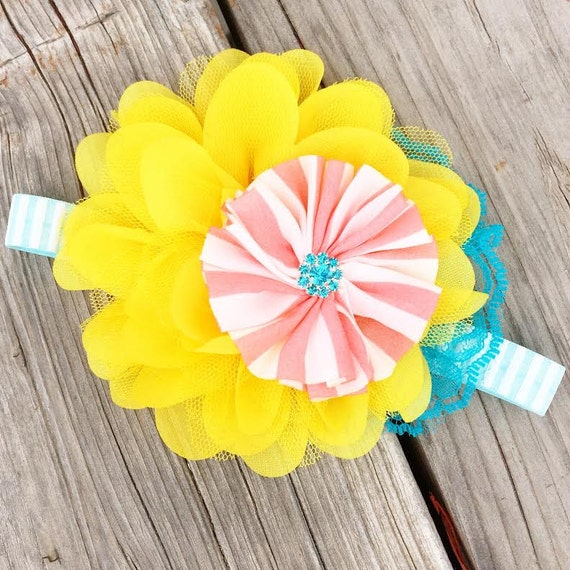 NEW Spring In Bloom - headband, spring, summer, girl, baby, newborn, child, woman, summer, accessory
