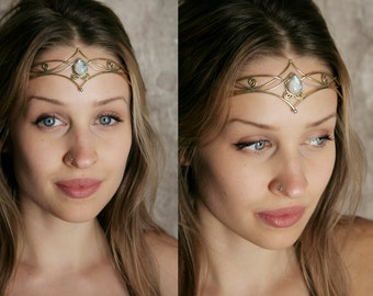 Avalon Rainbow Moonstone Tiara