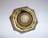 Set of 6 Vintage Keeler Octagonal Brass Ring Pull Drawer Handles Classic Period Furniture Hardware FREE SHIPPING