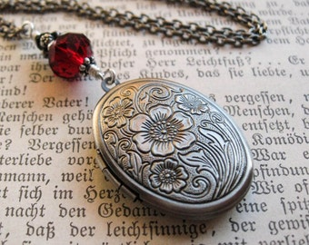Poppy Locket. Witch's Locket Necklace With Custom Colours. MADE TO ORDER