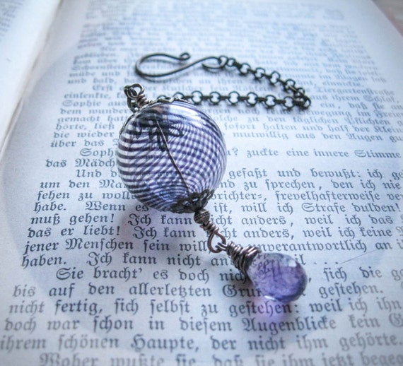 Purple Amethyst Miniature Witch Ball. Pagan Wicca Witch. Altar Supply