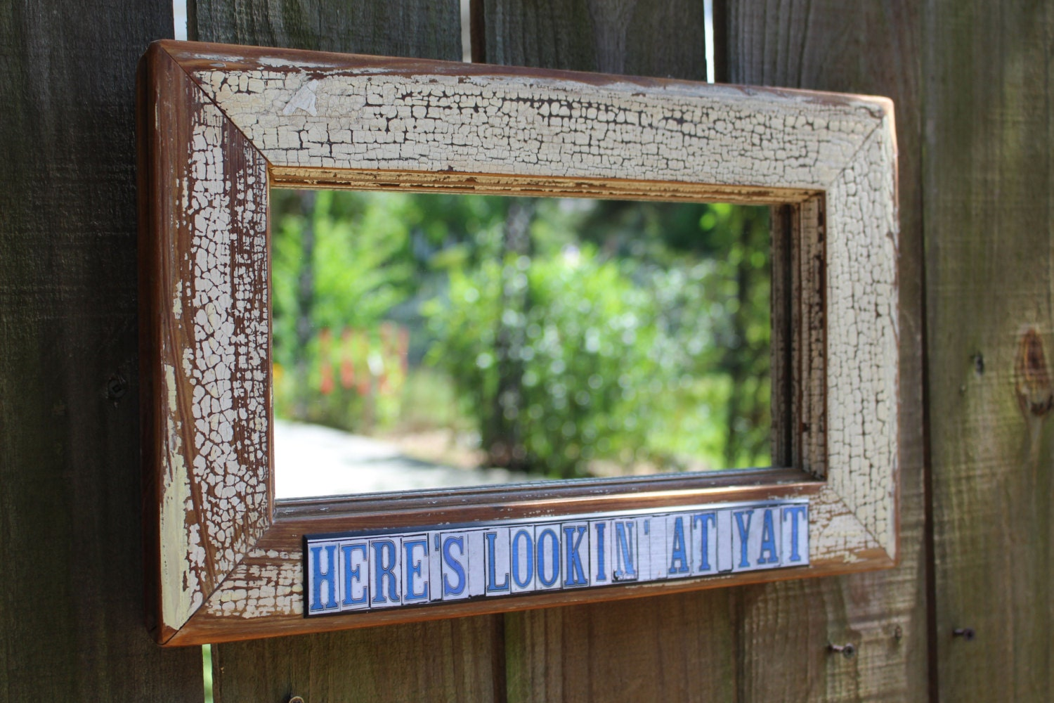 Home decor accent mirror New Orleans street tiles Where