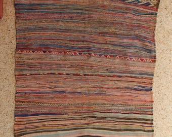 "235x165  cm ( 7.7"" x 4.5"") FREE SHIPPING worldwide KL27170 vintage berber kilim rug, flat rug, moroccan rugs , rag rug,morocco carpets"