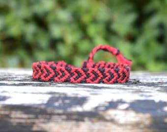 Heart Friendship Bracelet, red hearts bracelet, girlfriend bracelet, customizable bracelet, valentines gift (made to order)