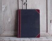 Vintage Columnar Book, Red and Black Accounting Ledger Journal, Unused