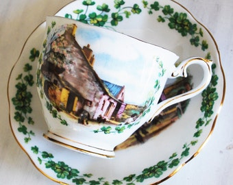 Royal Albert Teacup and Saucer / Londonderry Air Tea Cup / Traditional Songs Series