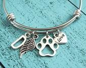 pet loss gift, personalized memorial jewelry, sympathy gift, pet remembrance jewelry, pet memorial gift, memorial bracelet, loss of pet