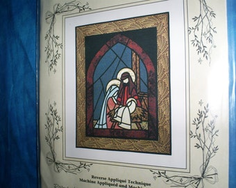 Stained Glass  Manger Scene 27 X 34 inches.