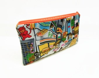 CLEARANCE pencil case zipper pouch zipper bag makeup bag makeup pouch Japanese anime pencil case