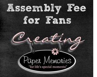 Assembly fee for wedding program fans
