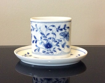 B&G Bing Grondahl Kjobenhavn Denmark Toothpick Holder and Matching Saucer