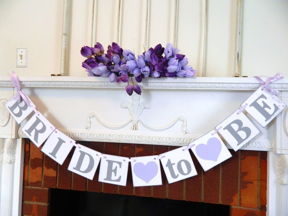 bridal shower decoarations purple bride to be banner