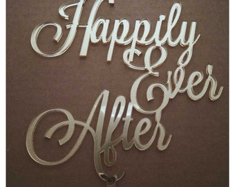 Happily Ever After Cake Topper - wedding cake topper