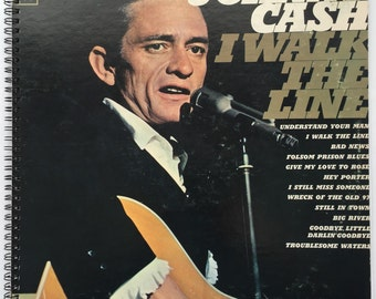 Johnny Cash Recycled Record Album Cover Book