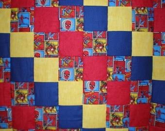 Spiderman Patchwork Quilt