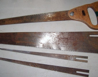 Vintage Hand Saw With Interchangeable Blades - Made In Japan